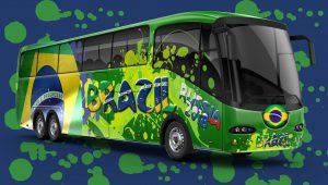 Copa do mundo Russia 2018, viajando de ônibus